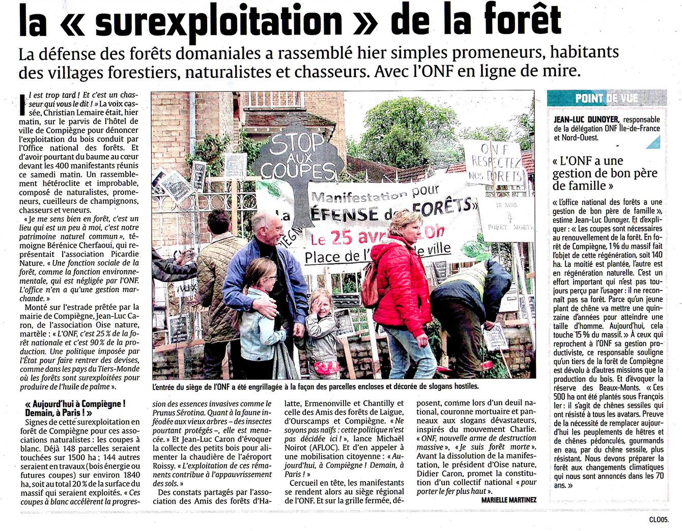 Les amoureux de la forêt manifestent à Compiègne