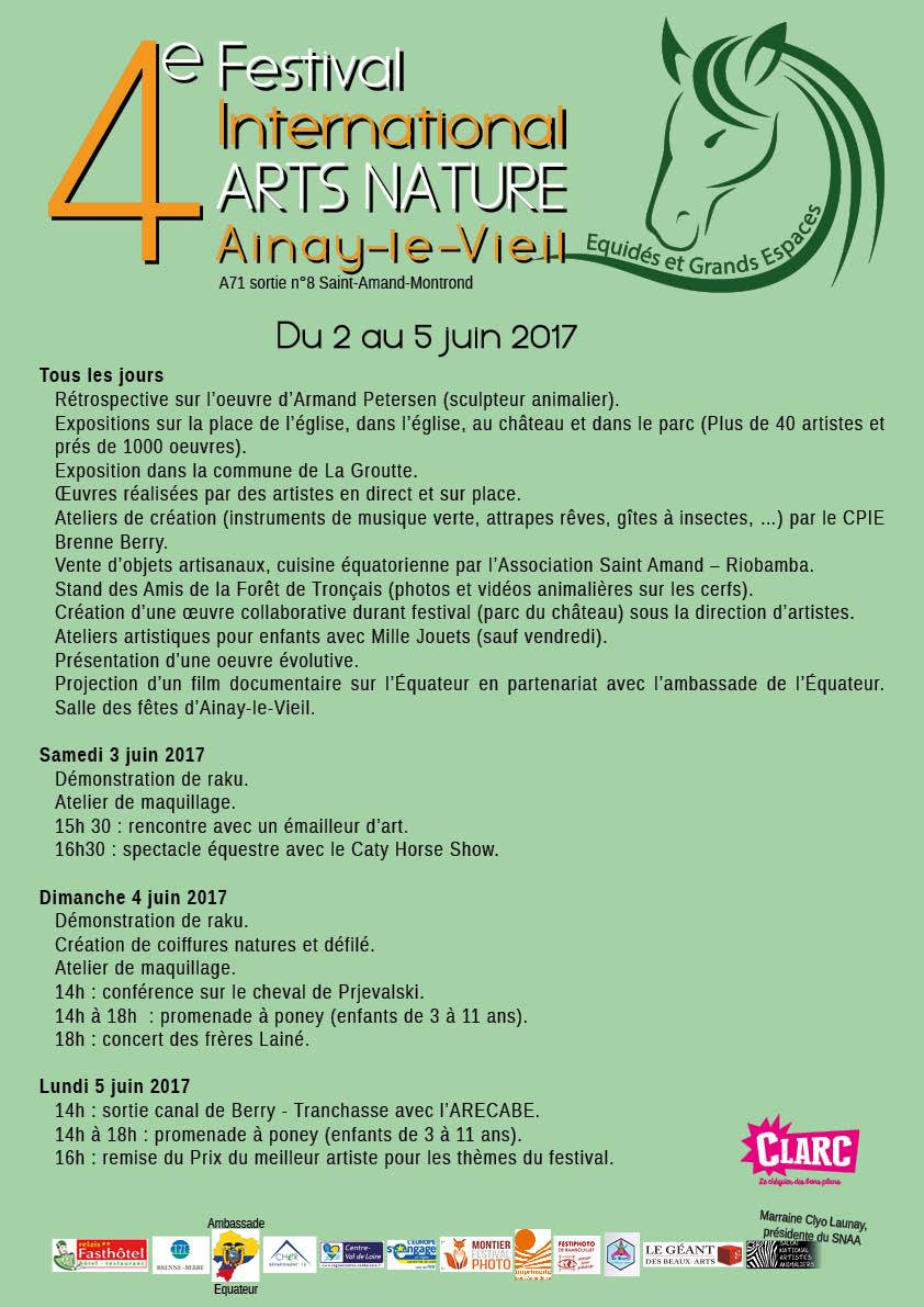 Festival international d'Arts Nature 2017 Ainay-le-Vieil