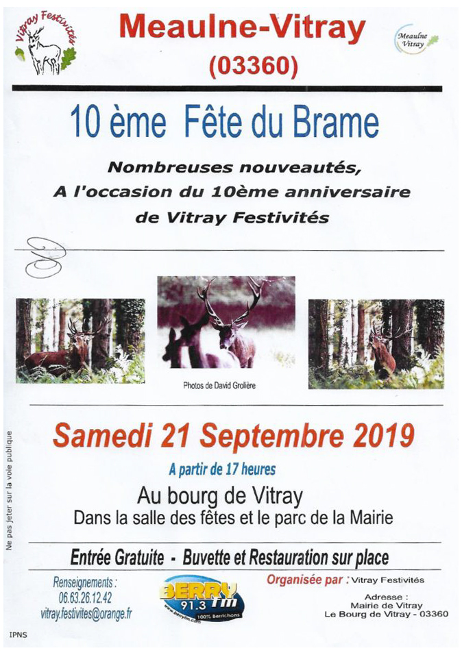 Vitray, 10ème Fête du Brame